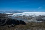 Die Eiskappe, die noch weite Teile Grönlands bedeckt