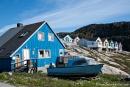 Bunt und auf Stelzen - Häuser in Ilulissat