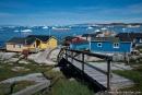 Erstaunlich, wie auf die unebenen Felsen gebaut wird - Ilulissat