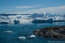 Eisbergstau am Ausgang des Kangia-Fjords
