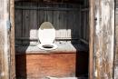 So eine Art öffentliche Toilette mit freiem Ausblick in die Natur - Kangerlussuaq