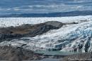 Inlandeisgletscher und Moräne - Kangerlussuaq