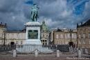 Schloss Amalienborg, Palais Brockdorff und Reiterstandbild Frederik V. - Kopenhagen