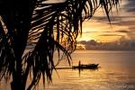 Fischer an der Küste von Manado