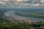 Ein Blick auf Borneo aus der Luft
