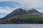 Der Anak Krakatau ist ein aktiver Vulkan, der gerade wieder vor sich hin qualmt