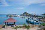 Blick auf den Hafen von Labuhan Bajo, bevor wir nach Rinca segeln