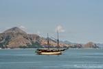 Segelboot im Hafen von Labuhan Bajo
