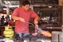 So wird das Fleisch flambiert