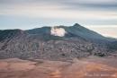 Der aktive Vulkan Bromo dampft friedlich vor sich hin
