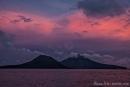 Ein spektakulärer Sonnenuntergang am Anak Krakatau