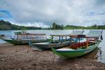 Ausflugsboote am Patenggang See