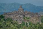 Blick von unserem Hotel auf die Tempelanlage
