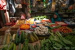 Regionaler Markt mit regionalem Gemüse