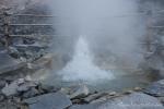 Hier sprudelt kochend heißes Wasser aus dem Boden