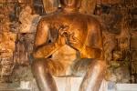 Bronzene Buddhafigur im Candi Mendut