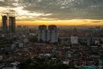 Sonnenaufgang über Jakarta