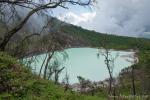 Blick auf den Vulkankrater Kawah Putih