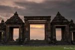 Sonnenuntergang am Kraton Ratu Boku