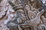 Dämonenfigur am Tempel Pura Beji im Ort Sangsit