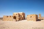 Wüstenschloss Qusair Amra aus dem frühen achten Jahrhundert. Von dem Bau sind noch der Thronsaal und ein Badehaus erhalten.