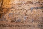 Wüstenschloss Qusair Amra, noch recht gut erhaltene alte Fresken