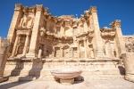 Das Nymphäum, die imposante Brunnenanlage in Jerash
