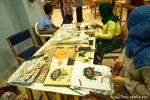 Im Archäological Park Madaba kann man bei der Herstellung von kleinen Mosaiken zusehen