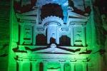 Lichtershow am Schatzhaus von Petra