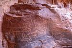 Im Wadi Rum gibt es zahlreiche Felszeichnungen