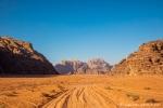 Im Wadi Rum herrscht Verkehr wie auf der Autobahn