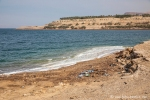 Müll auch hier, wohin man blickt, Totes Meer