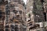 Gesichterreliefs im Bayon Tempel