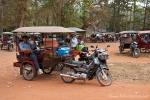 Tuk-Tuk Parkplatz in Angkor