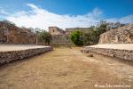 Großer Ballspielplatz mit Blick auf den Gouverneurspalast, Uxmal