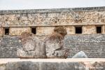 Zwei Löwen vor dem Gouverneurspalast, Uxmal