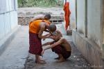 """Badezimmer"" im Mönchskloster auf dem Mandalay Hill"