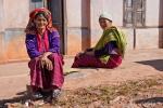 Palaung-Frauen in ihrer traditionellen Tracht im Bergdorf Peinnebin