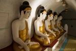 Buddhastatuen im Inneren der Shwegugale Pagode