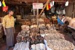 Trockenfisch - Markt in Bago