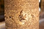 Goldene Säule im Shwe Kyaung Kloster auch Goldenes Kloster
