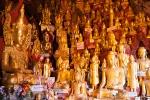 8000 Buddhafiguren stehen in den Pindaya Caves