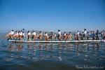 Wettkampf der Einbeinruderer auf dem Inle See