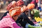 Pa-O-Frauen auf dem Markt von Indein