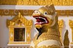 Chinthes (Hund-Drachen-ähnliche Wesen) vor der Swe Daw Myat Pagode (Swal Daw Pagode)
