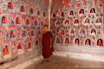 Junger Mönch im Shwe yan pyay Kloster