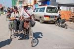 Mit der Farrad-Trishaw zur Stadtbesichtigung durch Nyaungshwe