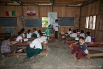 Dorfschule bei den Chin