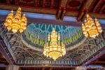 Kristallleuchter in der Großen Sultan-Qabus-Moschee, Muscat
