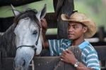 Stolz auf sein bestes Pferd